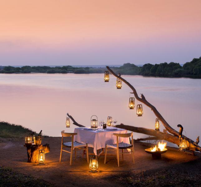Matetsi River Lodge Private Dining