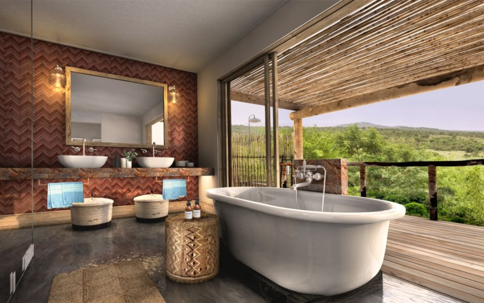 Phinda Mountain Lodge Guest Suite Bathroom View