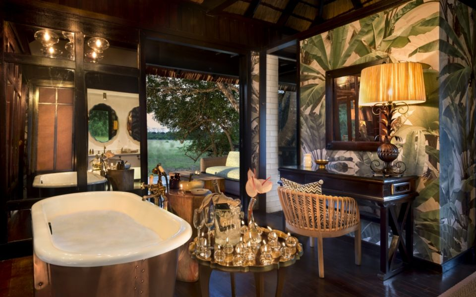 Guest Bathroom At And Beyond Phinda Vlei Lodge