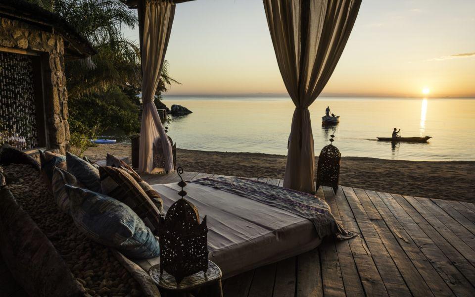 Kaya Mawa Deck Lounge Sunset