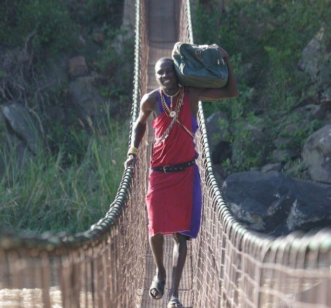 Ngare Serian Rope Bridge Cropped